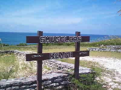 Smugglers Beach Sign